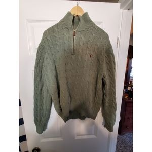 Green Polo Quarter-Zip